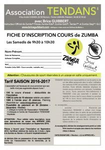 Fiche Inscription TENDANS 2016  - copie