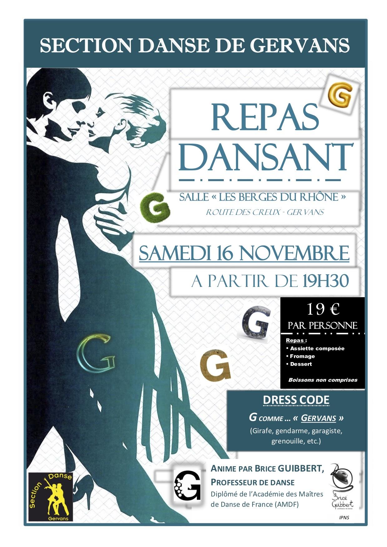 Affiche Soirée Danse G